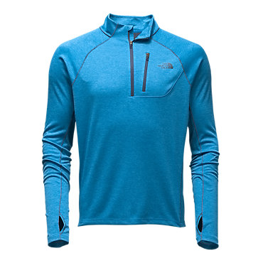 The North Face Men's Impulse Active 1/4 Zip - Shady Blue Heather/Shady Blue - Me