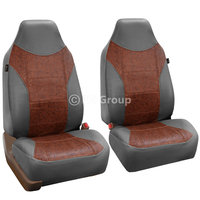 Top Quality Sport Line Car Seat Cover Leather Gray Brown For Car SUV