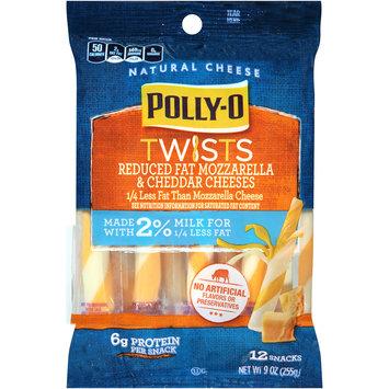 Polly-O Twists Reduced Fat Mozzarella & Cheddar Cheese Snacks