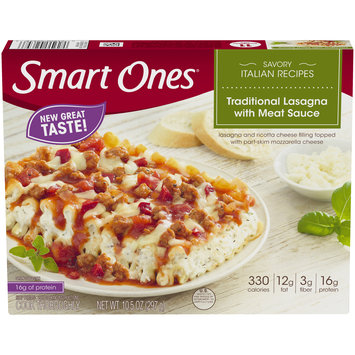 Smart Ones Savory Italian Recipes Traditional Lasagna with Meat Sauce