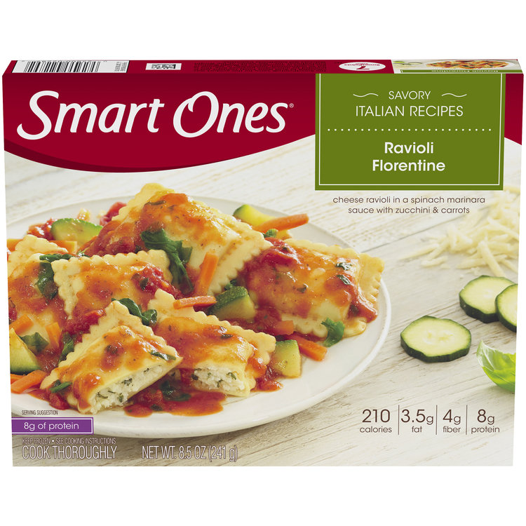 Smart Ones Savory Italian Recipes Ravioli Florentine