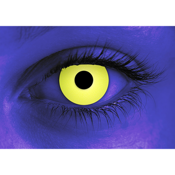 Rave Yellow Halloween Contact Lenses