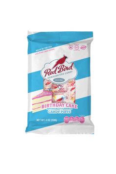 Red Bird Birthday Cake Soft Candy Puffs
