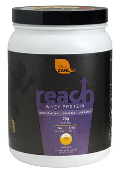 Zahler Reach Whey Protein, Advanced Formula for Lean Muscle Build, Great Tasting Vanilla Flavor, 1LB