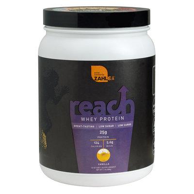 Zahler Reach Whey Protein, Advanced Formula for Lean Muscle Build, Great Tasting Vanilla Flavor, 1LB