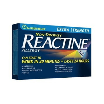 Reactine Extra Strength, 10 mg, 30 Tablets