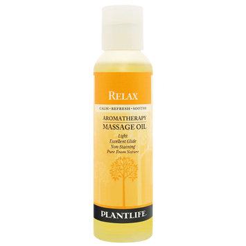 Plantlife Relax Aromatherapy Massage Oil - 4 oz