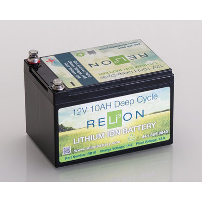 RELiON 12V 10AH LITHIUM-ION BATTERY