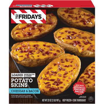TGIF Loaded Cheddar & Bacon Potato Skins