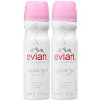 Evian Brumisateur® Natural Mineral Water Facial Spray Travel Duo 2 x 1.7 oz/ 50.28 mL