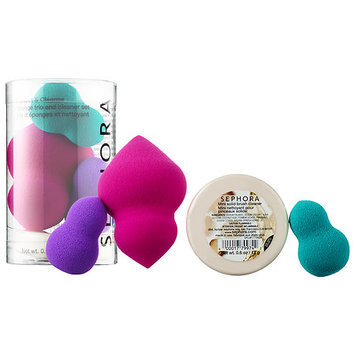 SEPHORA COLLECTION Perfect & Cleanse: Sponge Trio and Cleaner Set