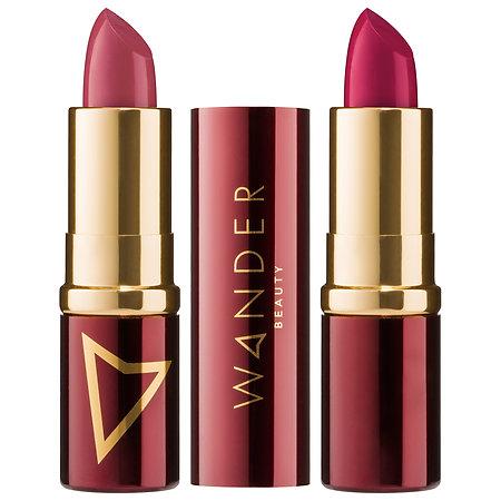 Wander Beauty Wanderout Dual Lipsticks Exhibitionist (raspberry wine)/ BTS (pinky-mauve) 0.14 oz/ 4.08 g