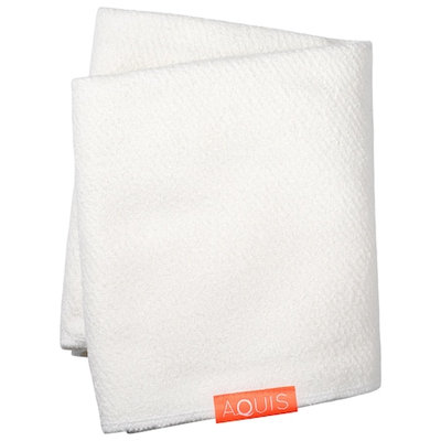 Aquis Lisse Luxe Long Hair Towel White 19 x 52 in / 50 x 132 cm