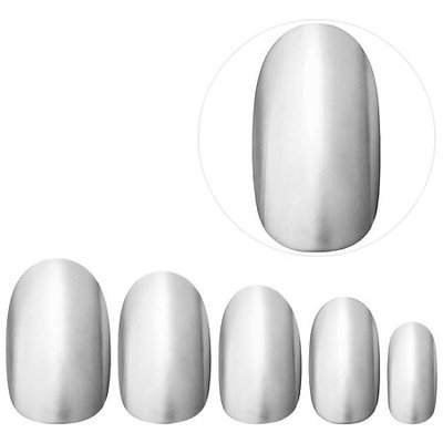 Static Nails All In One Pop-On Manicure Kit (Weekend Manicure: Chrome Capsule Collection) Gunmetal Edit