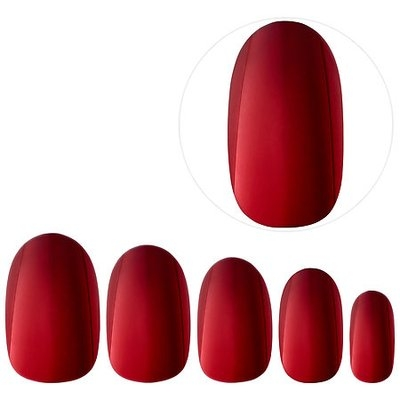 Static Nails All In One Pop-On Manicure Kit (Weekend Manicure: Chrome Capsule Collection) Crimson Edit