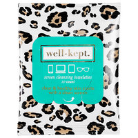 Well-Kept Screen Cleansing Towelettes Spirit Animal - Jade/Leopard 15 towelettes