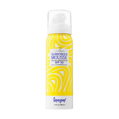 Supergoop! Super Power Sunscreen Mousse Broad Spectrum SPF 50