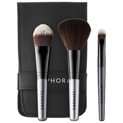 SEPHORA COLLECTION Ready in 5 Face Brush Set Black