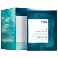 YUNI SHOWER SHEETS Large Body Wipes 12 wipes