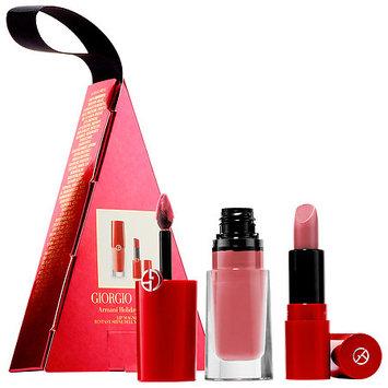 Giorgio Armani Beauty Holiday Lip Box Set Lip Magnet Liquid Lipstick in 506 Fusion/ Ecstasy Shine Lipstick in 503 Fatale
