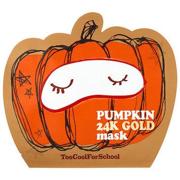 Too Cool For School Pumpkin 24K Gold Mask
