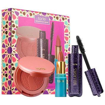 tarte Precious Picks Color Set Blush in Ornate/ Lipstick in Surf's Up/ Lights, Camera, Lashes(TM) 4-in-1 Mascara in Black