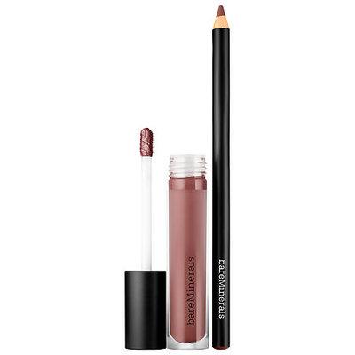 bareMinerals Gen Nude(R) Lip Duet Lip Liner in Freestyle/ Liquid Lipcolor in Scandal 0.13 oz/ 4 mL (Matte Liquid Lipcolor); 0.5 oz/ 1.5 g (Lip Liner)