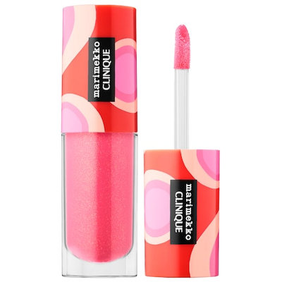 CLINIQUE Marimekko x Clinique Pop Splash(TM) Lip Gloss 12 Rosewater Pop 0.14 oz / 4.3 mL