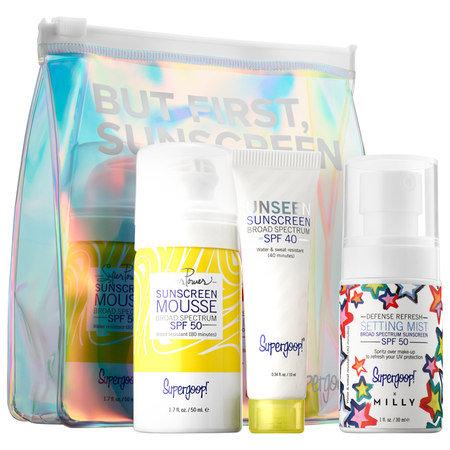 Slide: Supergoop! But First, Sunscreen Kit