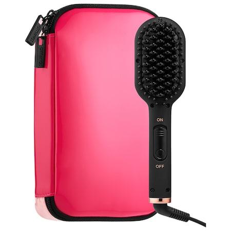 amika Polished Perfection Mini Straightening Brush Pink