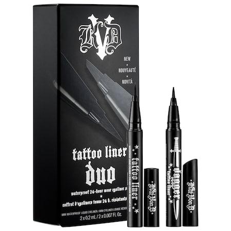 Kat Von D Tattoo Liner Duo Trooper Black 2 x 0.007 oz/ 0.2 mL