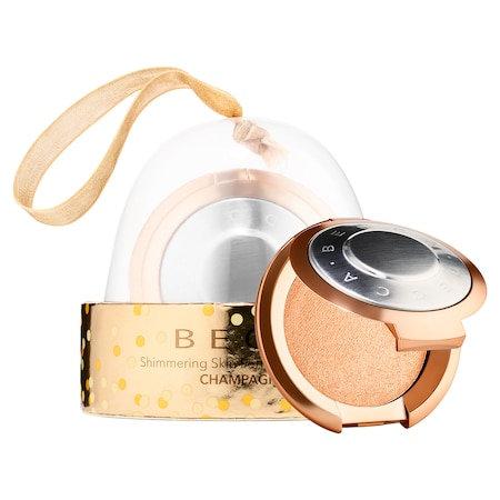 BECCA Shimmering Skin Perfector(R) Pressed Highlighter Mini Ornament Champagne Pop 0.085 oz/ 2.4 g