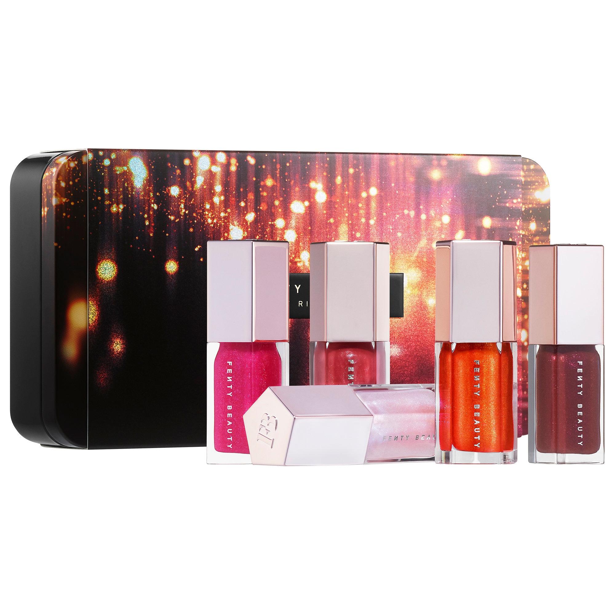 FENTY BEAUTY by Rihanna Glossy Posse Mini Gloss Bomb Set 5 x 5.5 ml