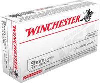 Winchester 9mm Luger 115gr FMJ Handgun Ammo