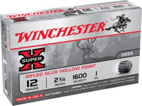 Winchester Super-X Slugs, 12-ga, 2-3/4, 1 oz, Rifled