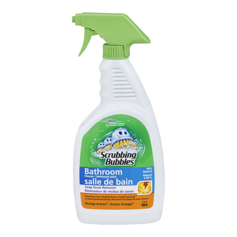 Scrubbing Bubbles Bathroom Cleaner Spray, Orange Action, 950 ml