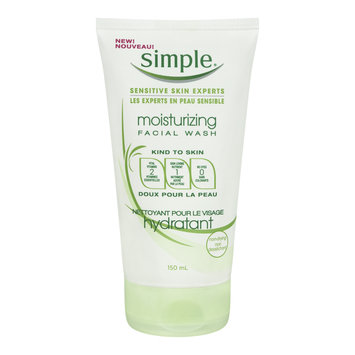 Simple Moisturizing Facial Wash, Sensitive Skin, 150 mL
