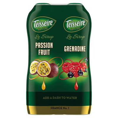 Teisseire Passion Fruit and Grenadine 2 x 600ml