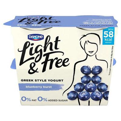 Light & Free Greek Style Blueberry Yogurt 4 x 115 (460g)