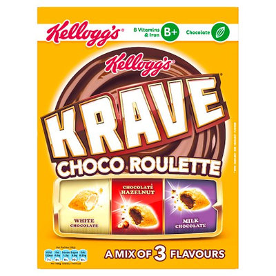 Kellogg's Krave Choco Roulette Cereal 375g