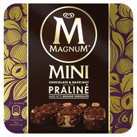 Magnum Mini Chocolate & Hazelnut Praline Ice Cream 6 x 55ml