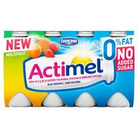 Actimel 0% Fat No Added Sugar Multifruit 8 x 100g (800g)