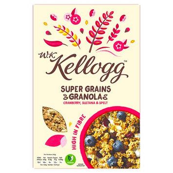 W.K. Kellogg Cereal Super Grains Granola Cranberry, Sultana & Spelt 570g