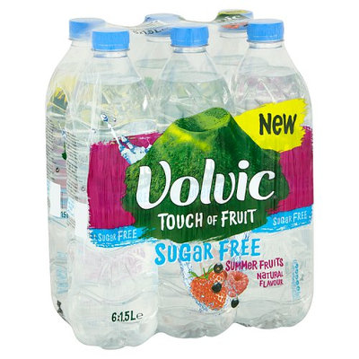 Volvic Touch of Fruit Sugar Free Summer Fruits Natural Flavour 6 x 1.5L
