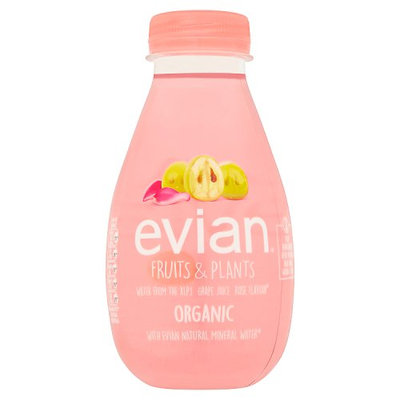 evian Fruits & Plants Water from the Alps Grape Juice Rose Flavour 37cl