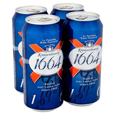 Kronenbourg 1664 Lager Beer Can 4 x 440ml