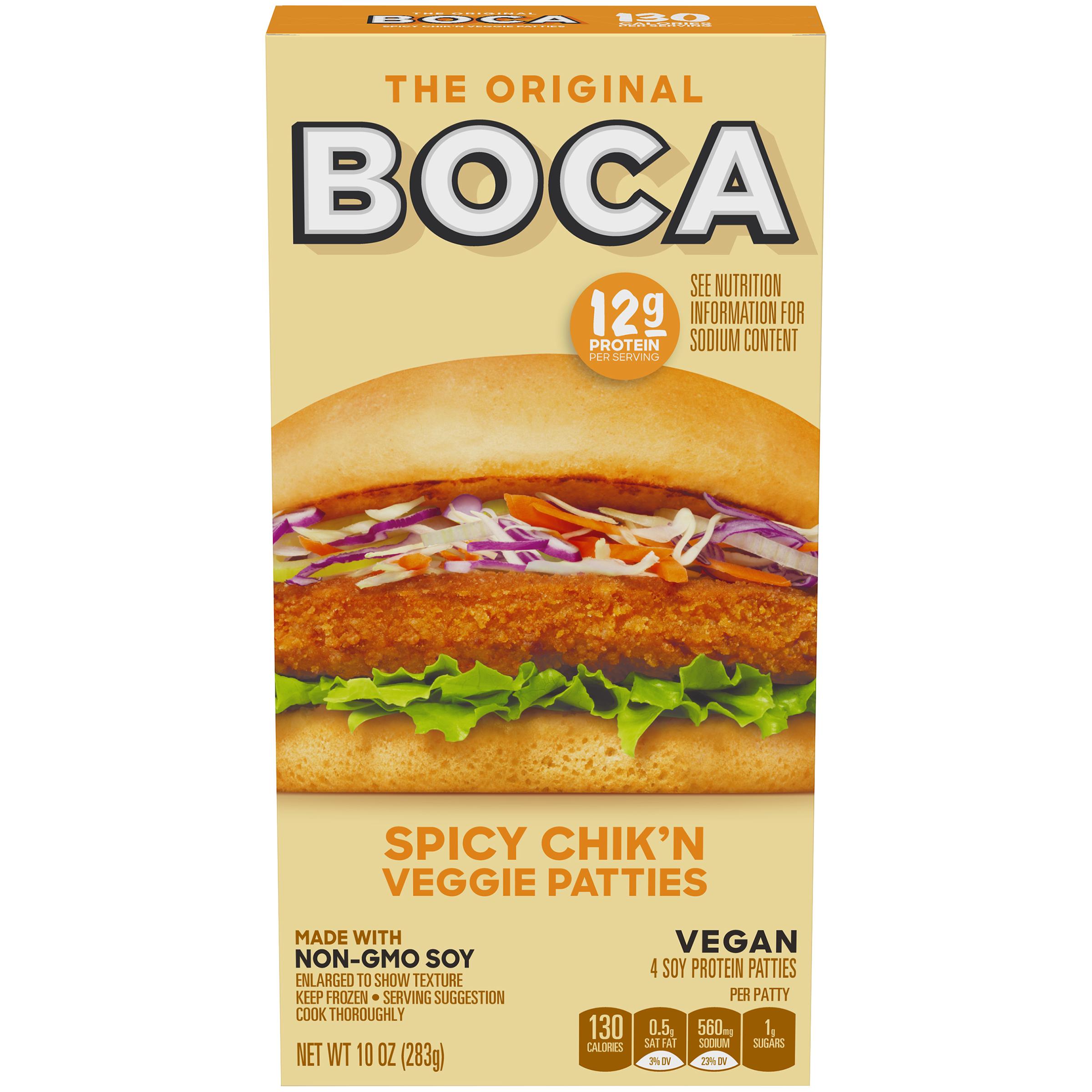 Boca Spicy Chikn Vegan Patties