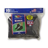 Fruit of the Loom Men's 10-Pairs Ankle Socks