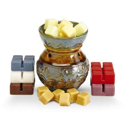 Candle Warmers Etc. Round Illumination Fragrance Warmer- Fleur De Lis