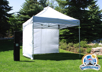 Cam Consumer Products, Inc. Hybrid Popup Shade Canopy ® 10' x 10' Commercial Vendor w/Walls